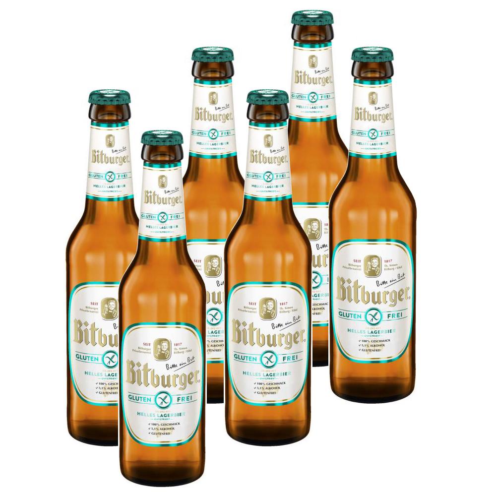 6 Flaschen Bitbruger glutenfrei
